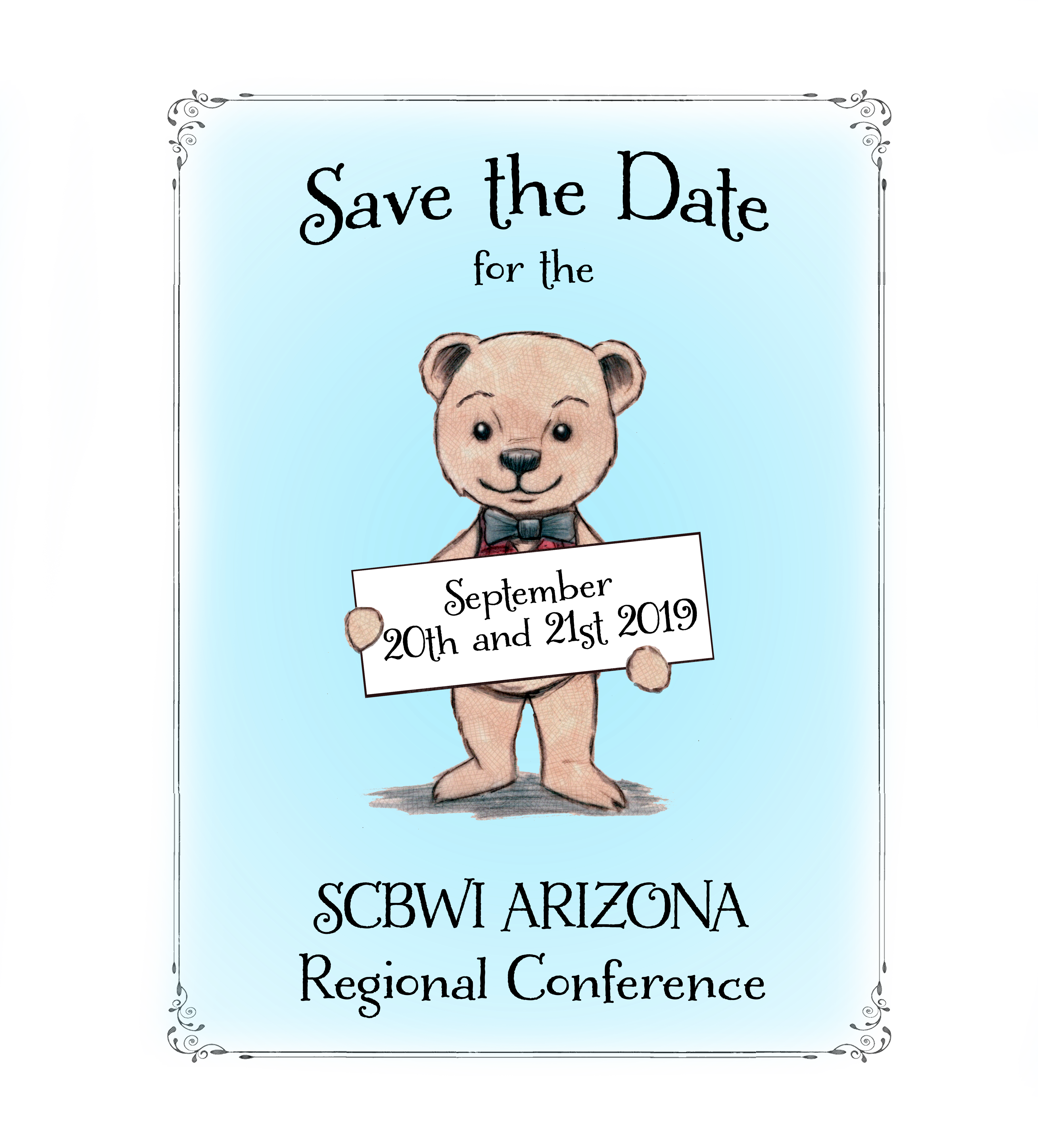 SCBWI AZ 2019 Regional Conference Date/Time Date(s) - 09/21/2019 8:00 am - 6:00 pm https://arizona.scbwi.org/events/scbwi-az-2019-regional-conference/