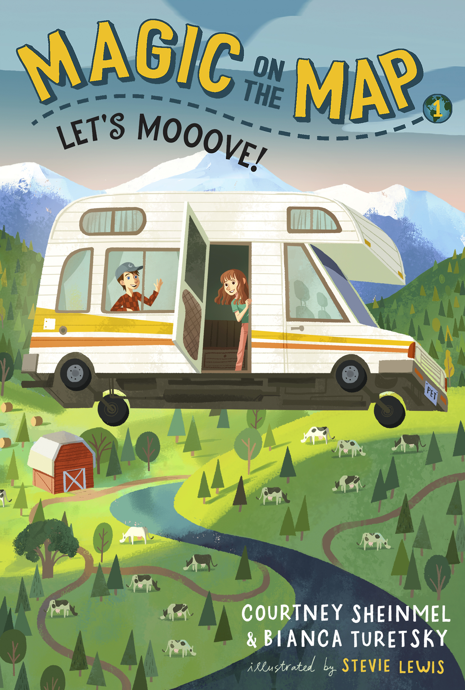 Book Title: Magic on the Map #1: Let's Mooove! Authors: Courtney Sheinmel & Bianca Turetsky Publisher: Random House Date of Publication: May 7, 2019