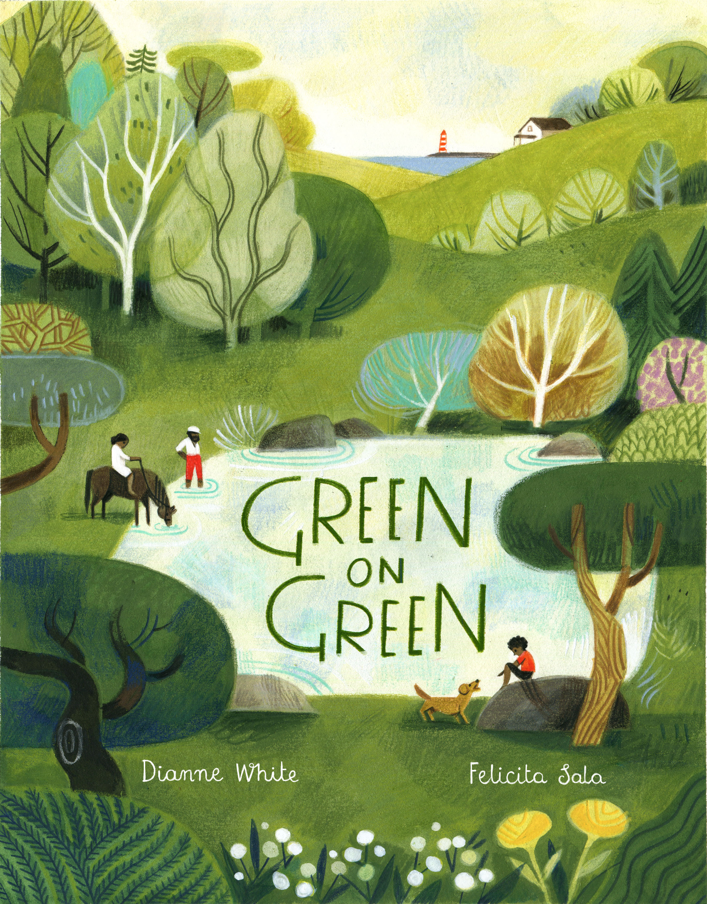 GREEN on GREEN Author: Dianne White Illustrator: Felicita Sala Publisher Name: Beach Lane/Simon & Schuster Date of Publication: March 17, 2020